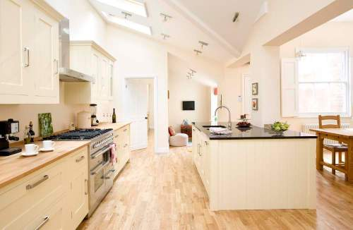 Interior design for large kitchen/diner in a period house in Leamington Spa, Warwickshire